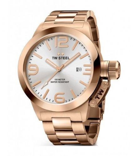 TW STEEL Canteen 50mm Rose Gold Gents Watch CB162